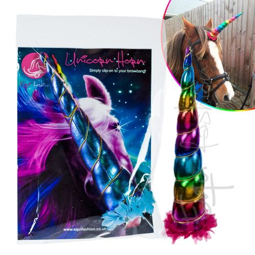 Equifashion Clip-on Horse & Pony Unicorn Horn 8""